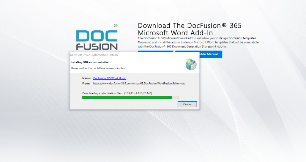 Installing DocFusion® Designer – Assimilated Information Systems